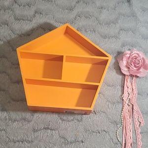 🌸Small orange wall shelf